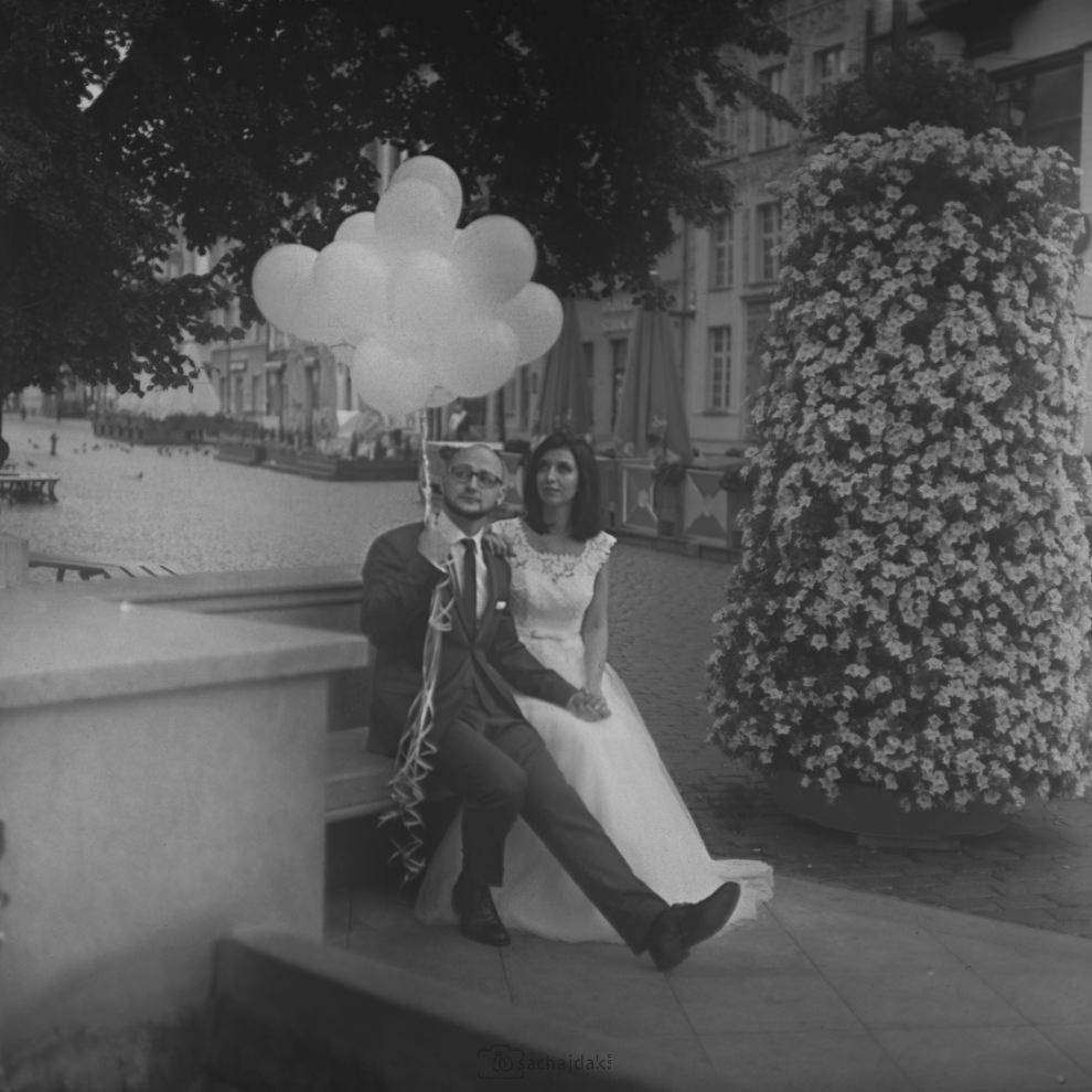 Sesja ślubna balony Toruń