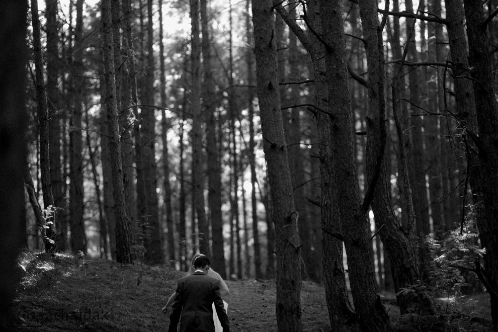 Plener ślubny las leśne zdjęcia ślubne