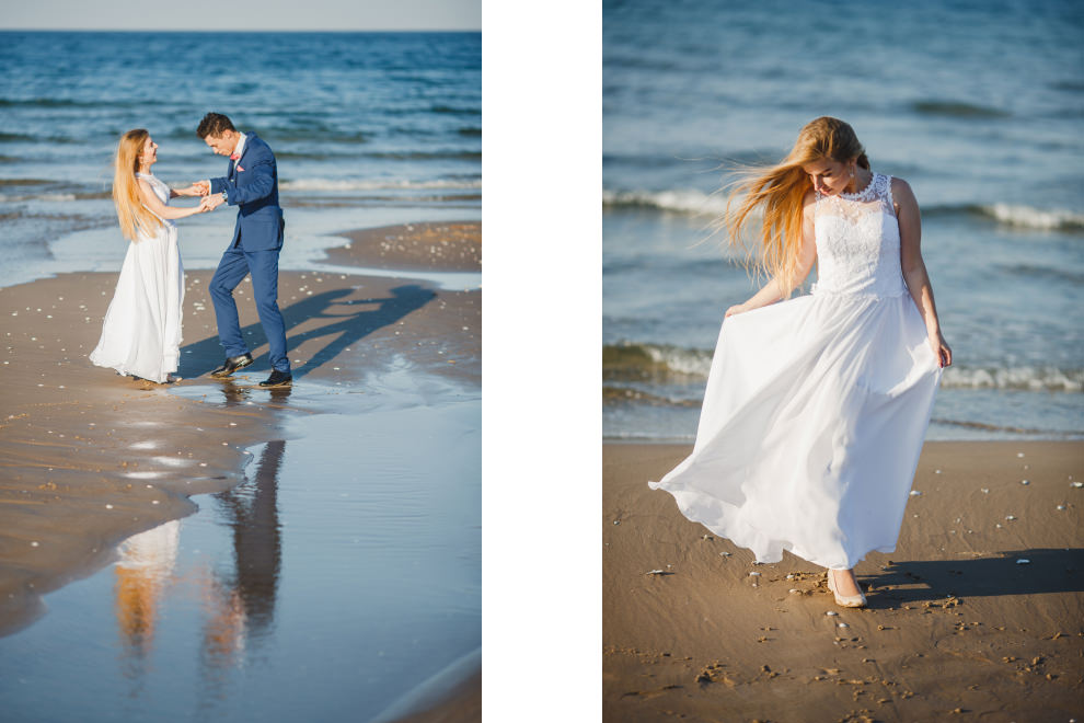Zdjęcia ślubne morze plaża
