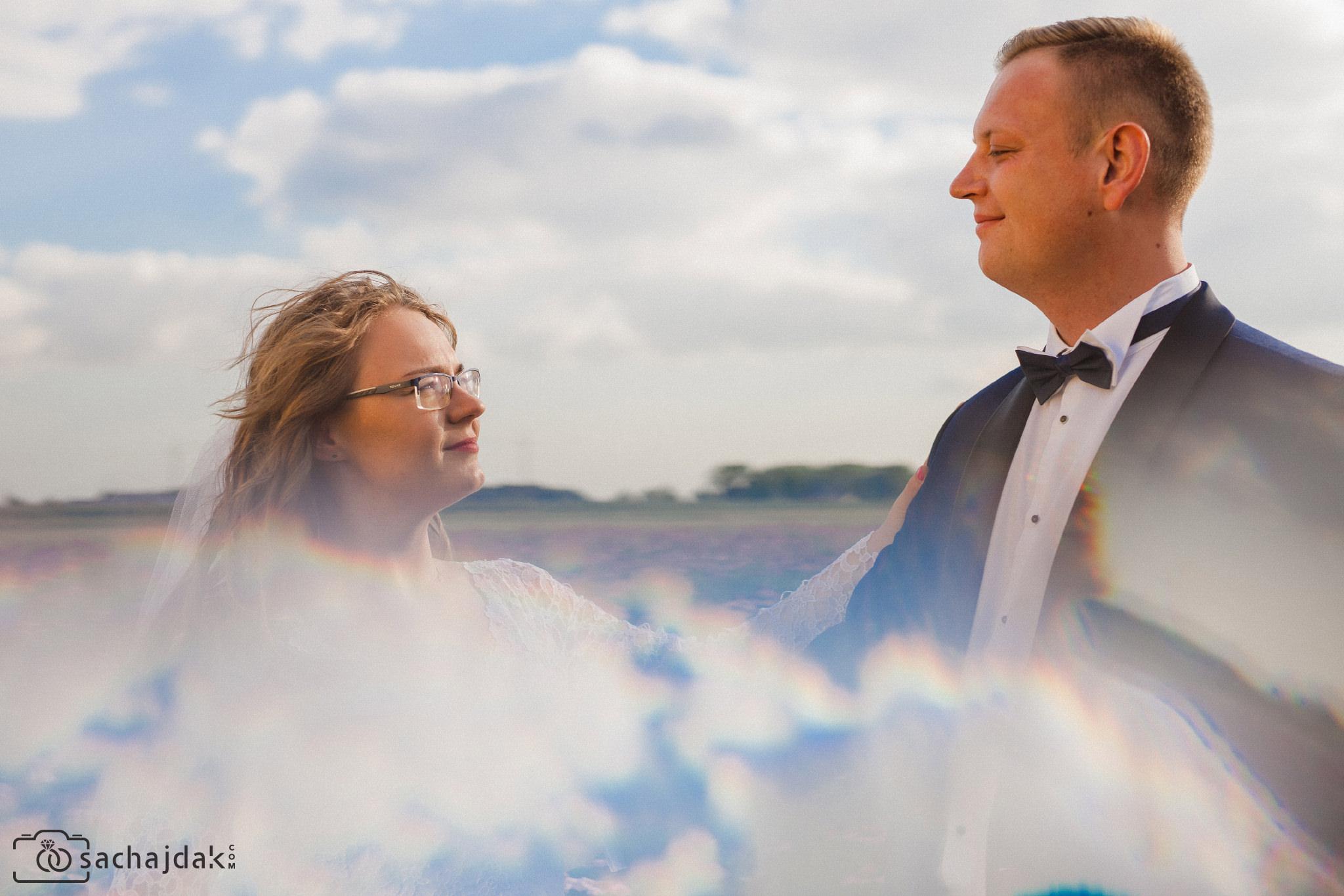 Plener ślubny na łące