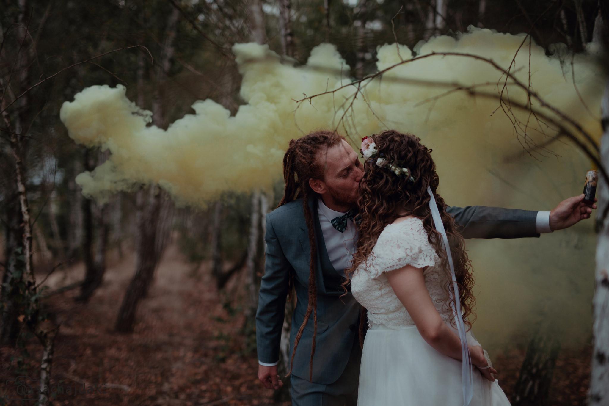Sesja ślubna podczas wesela